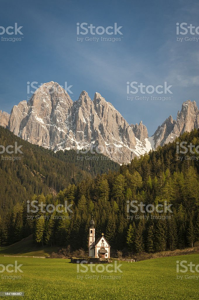 Dolomite mountains, Tyrolean region of Italy royalty-free stock photo