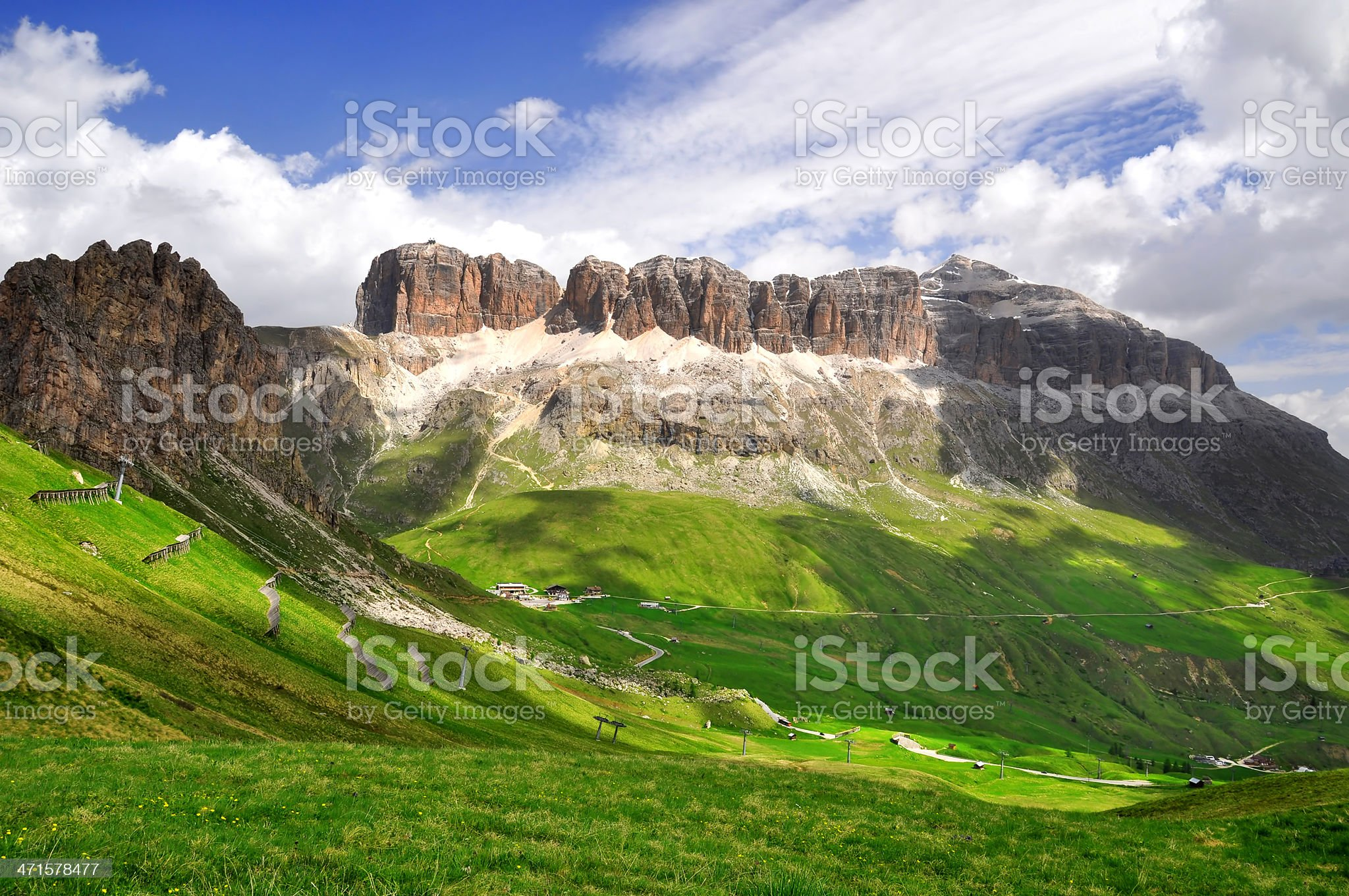 Dolomite peaks,Sella royalty-free stock photo