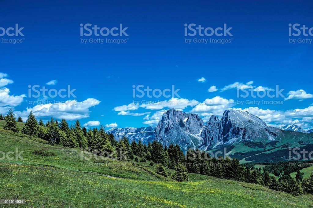 Dolomiten Mountain stock photo