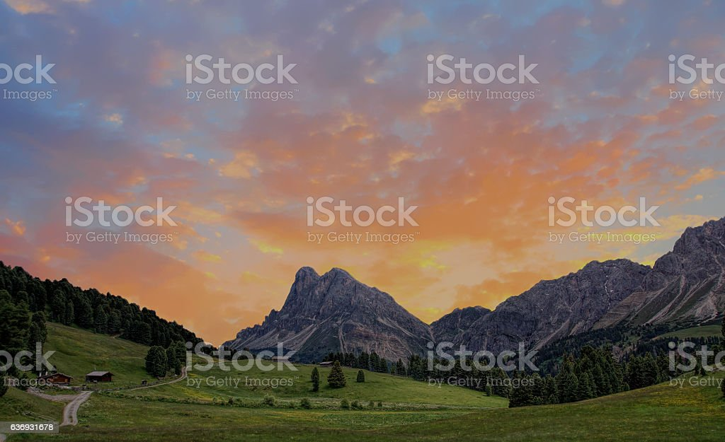 Dolomiten-Mountain stock photo