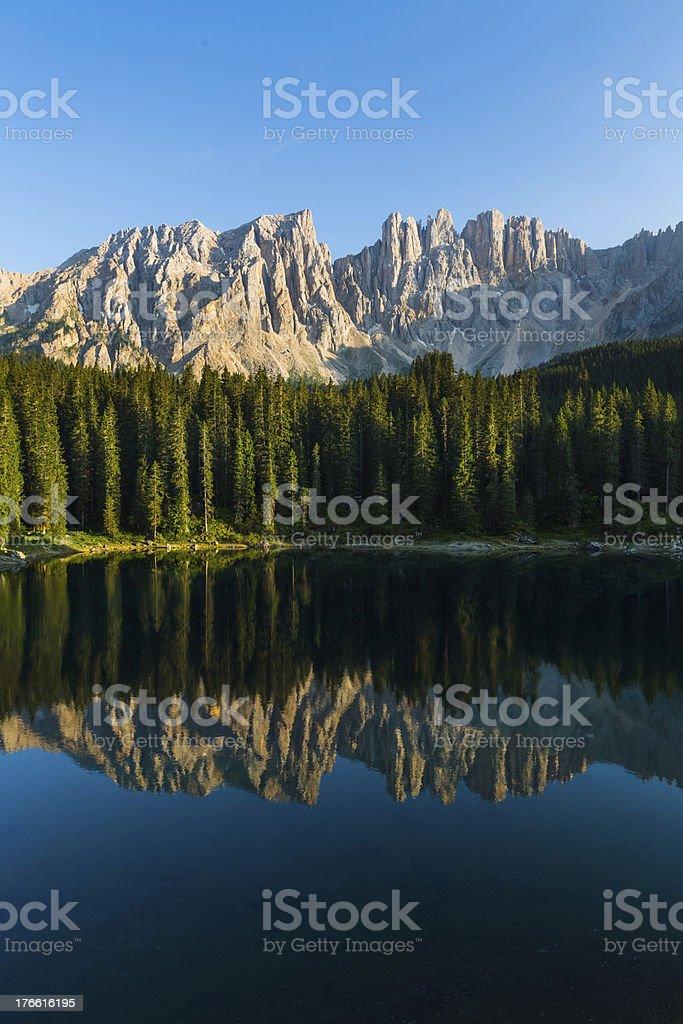 Dolomites Alpine Lake royalty-free stock photo