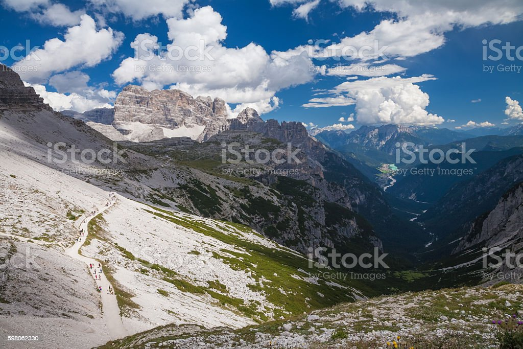 Dolomites Alps in Italy. Beautiful view of the mountains. stock photo