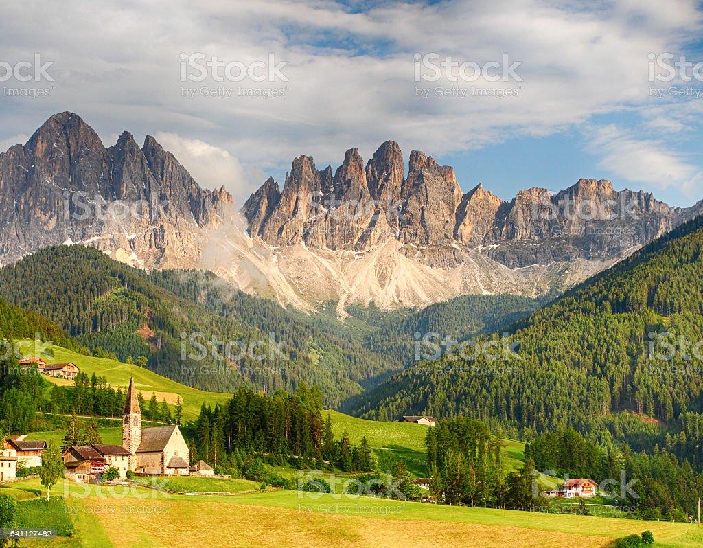 Dolomites alps, Mountain - Val di Funes stock photo