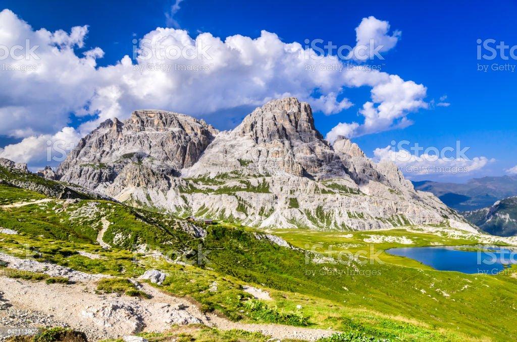 Dolomites Alps, Tre Cime di Lavaredo, Italy stock photo