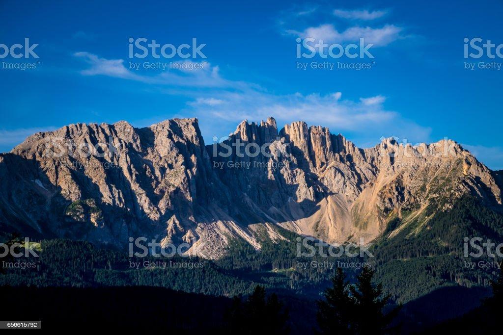 Dolomites at Sunset stock photo