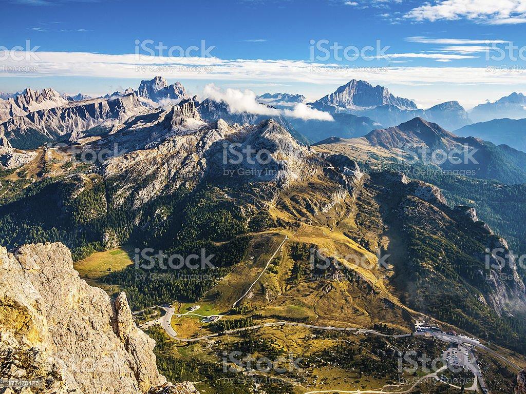 Dolomites beautiful scenery stock photo
