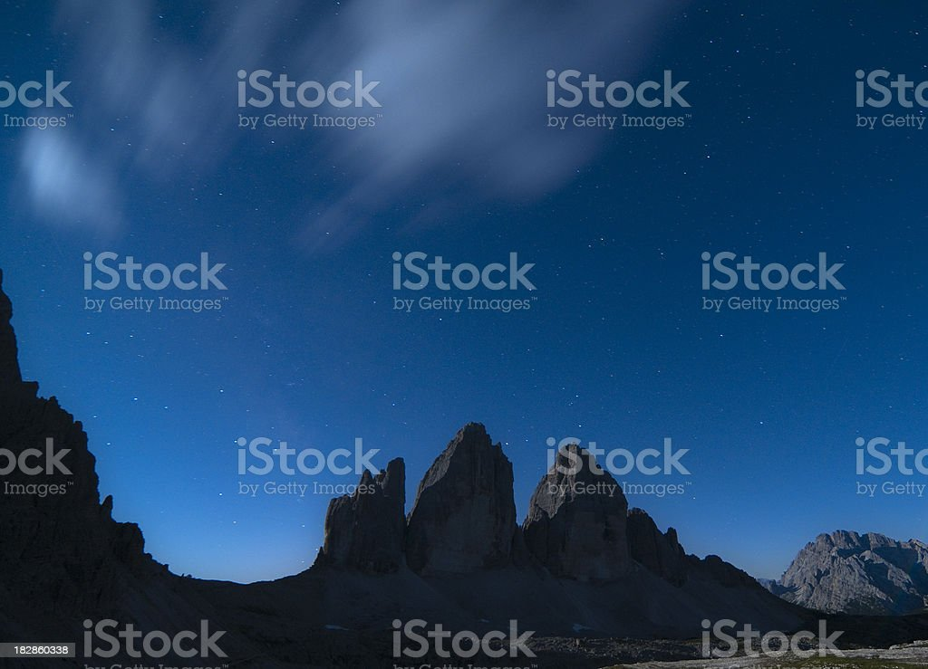 Dolomites by night royalty-free stock photo