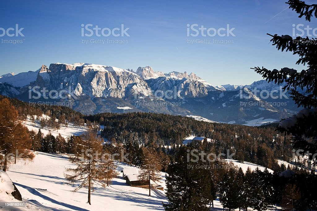 Dolomites during winter royalty-free stock photo