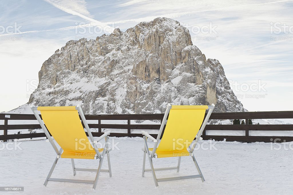 Dolomites for Two stock photo