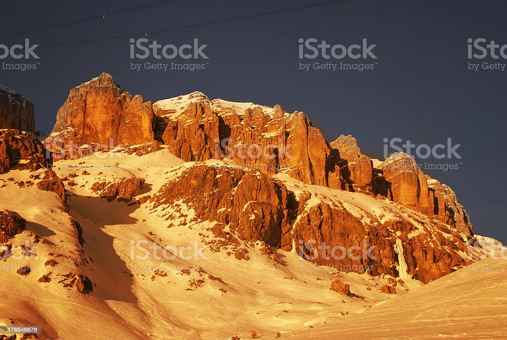 dolomites in winter royalty-free stock photo