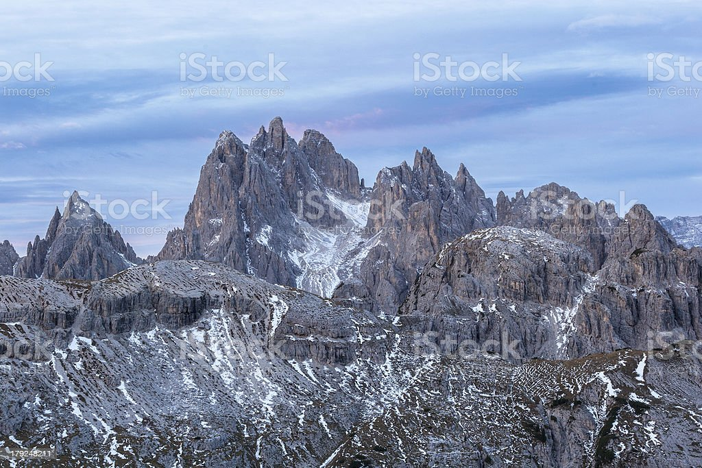 Dolomites mountain peaks royalty-free stock photo