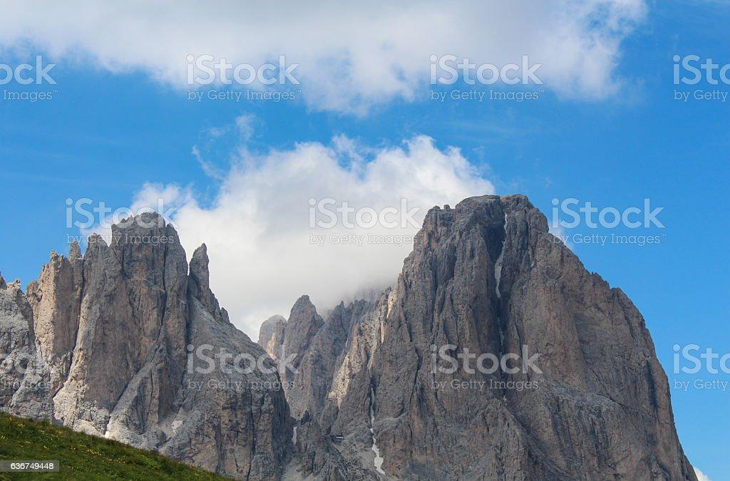 Dolomites mountains in Italy stock photo