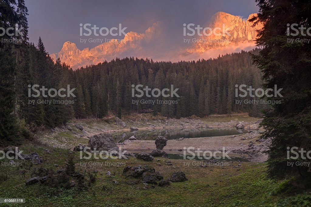 Dolomites mountains: italian Alps stock photo