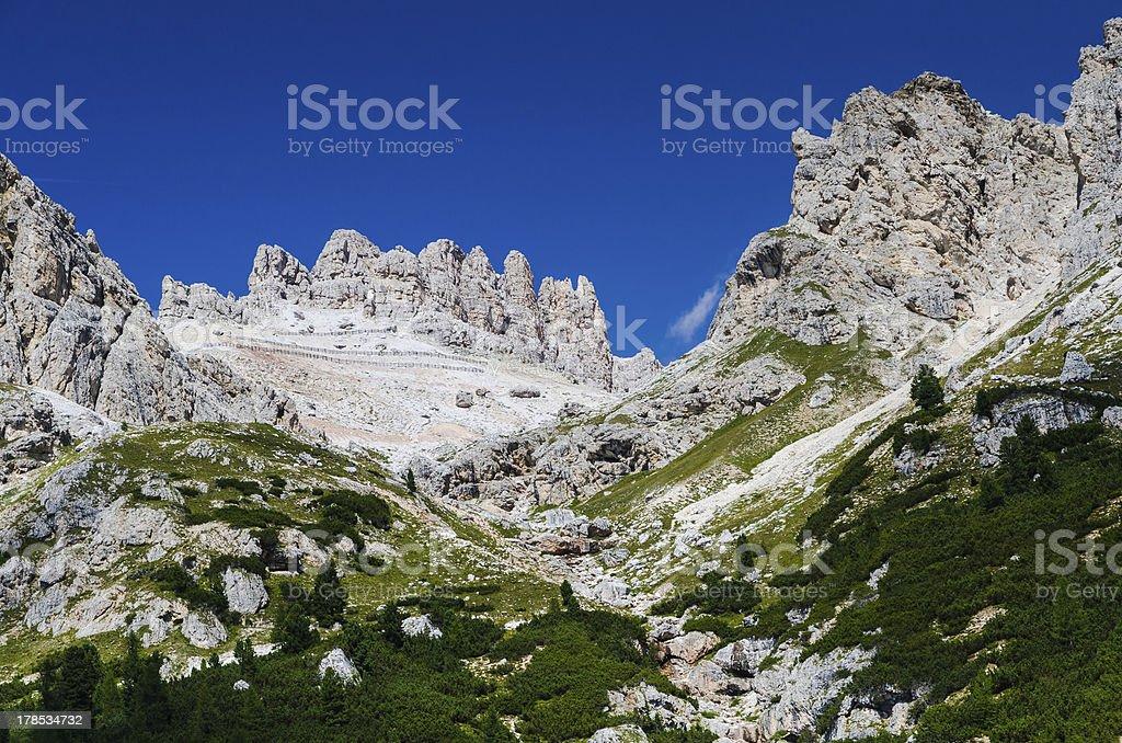Dolomites Mountains, Italy royalty-free stock photo