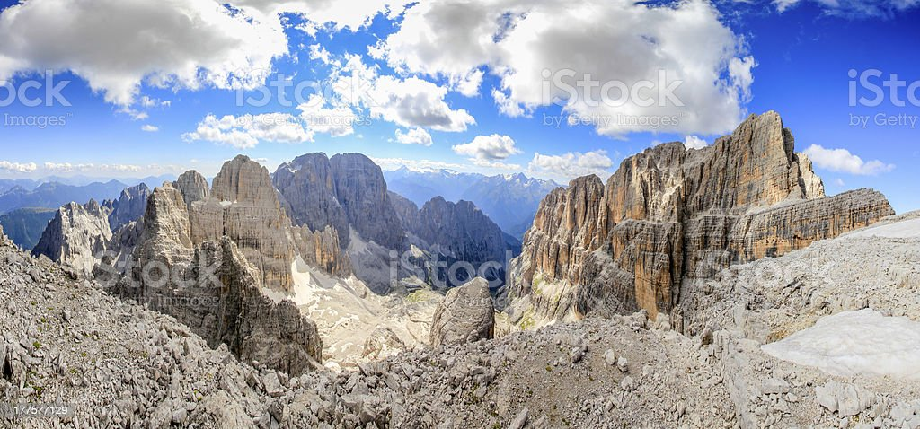 Dolomites of Brenta stock photo