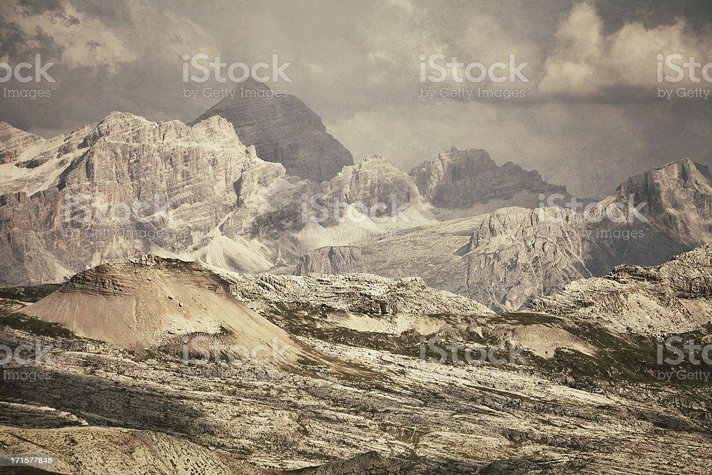 Dolomites panorama stock photo