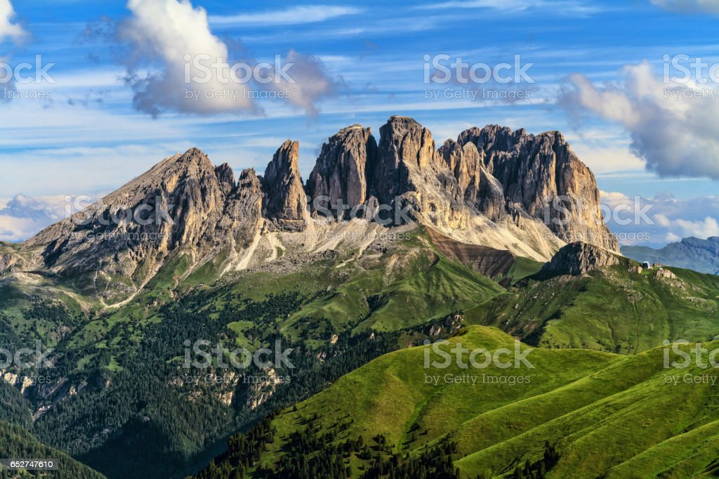 Dolomiti - Sassolungo -Langkofel mount stock photo