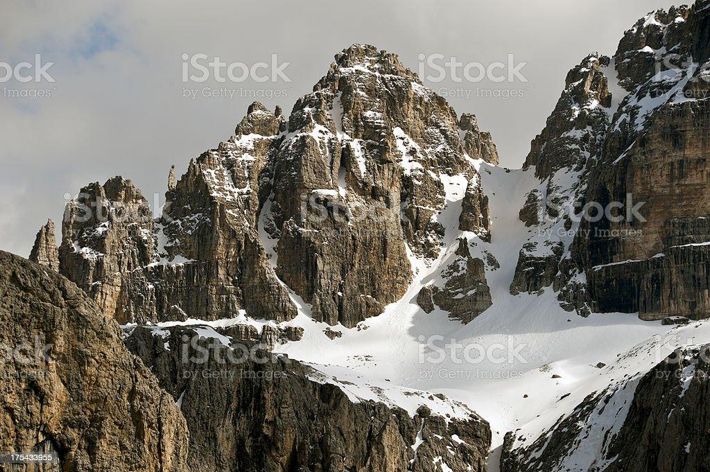 Dolomites, Sella group stock photo