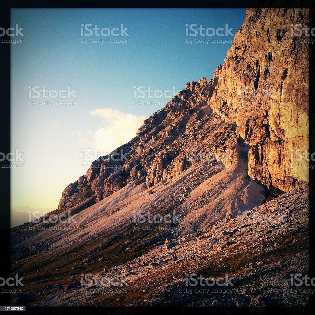Dolomites sunset stock photo