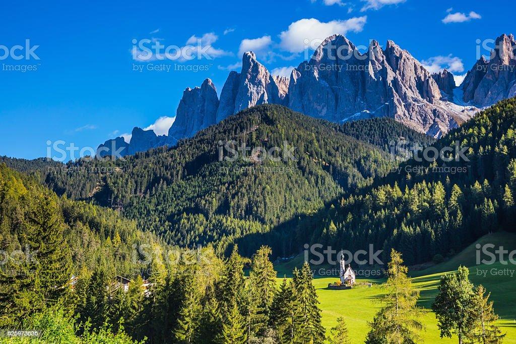 Dolomites, Tirol. Rocky peaks stock photo