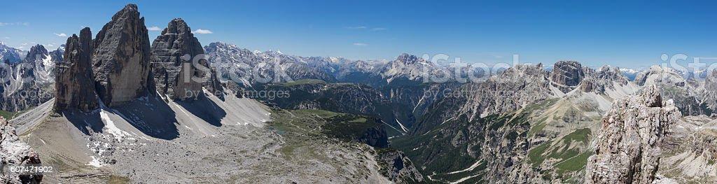 Dolomites - Tre Cime Di Lavaredo stock photo