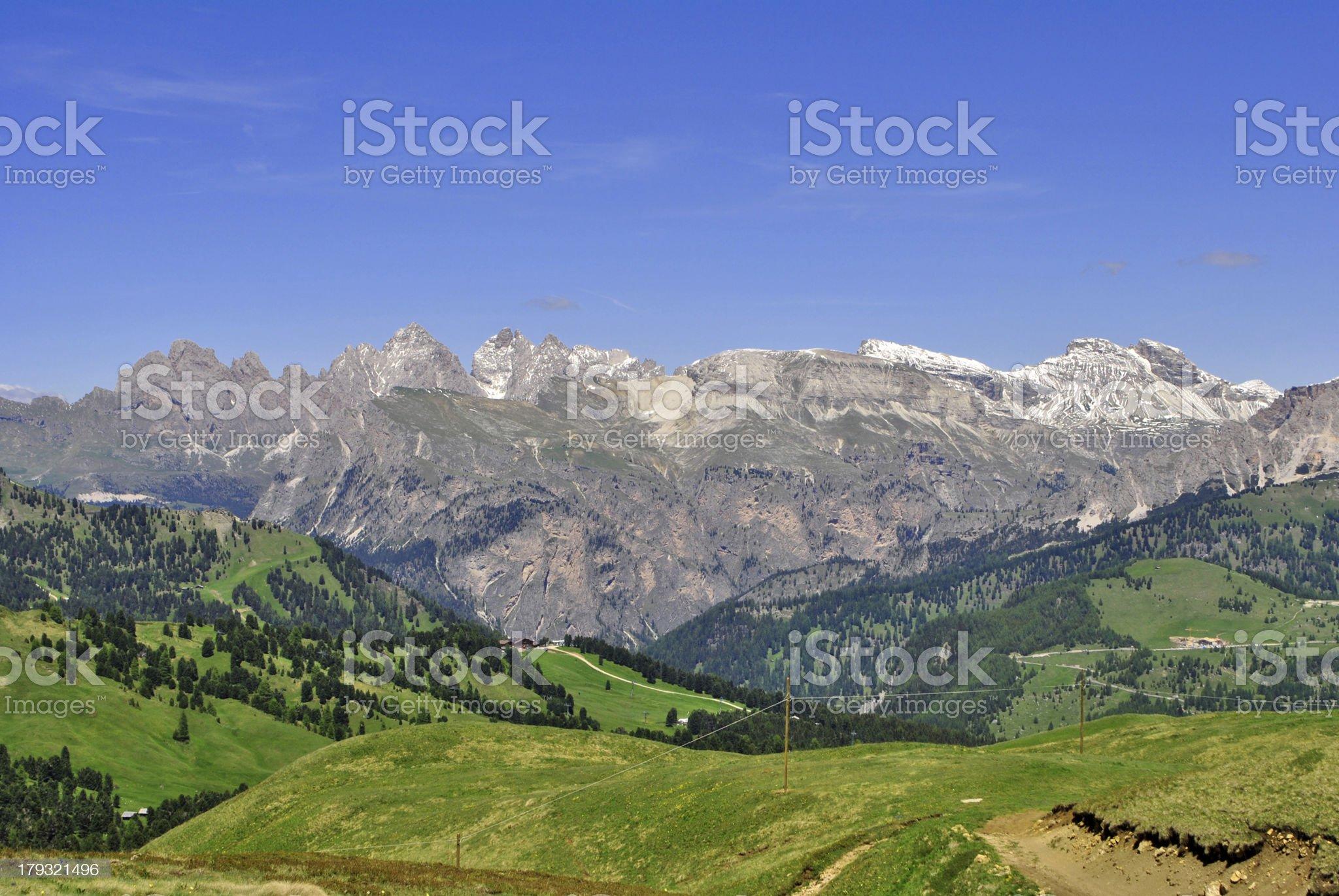 Dolomites Unesco royalty-free stock photo