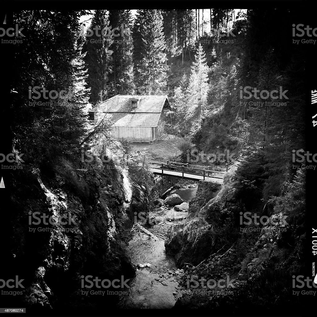 Dolomiti Alps. Black and White stock photo