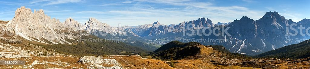 dolomiti around Cortina d Ampezzo and Dolomites mountains stock photo