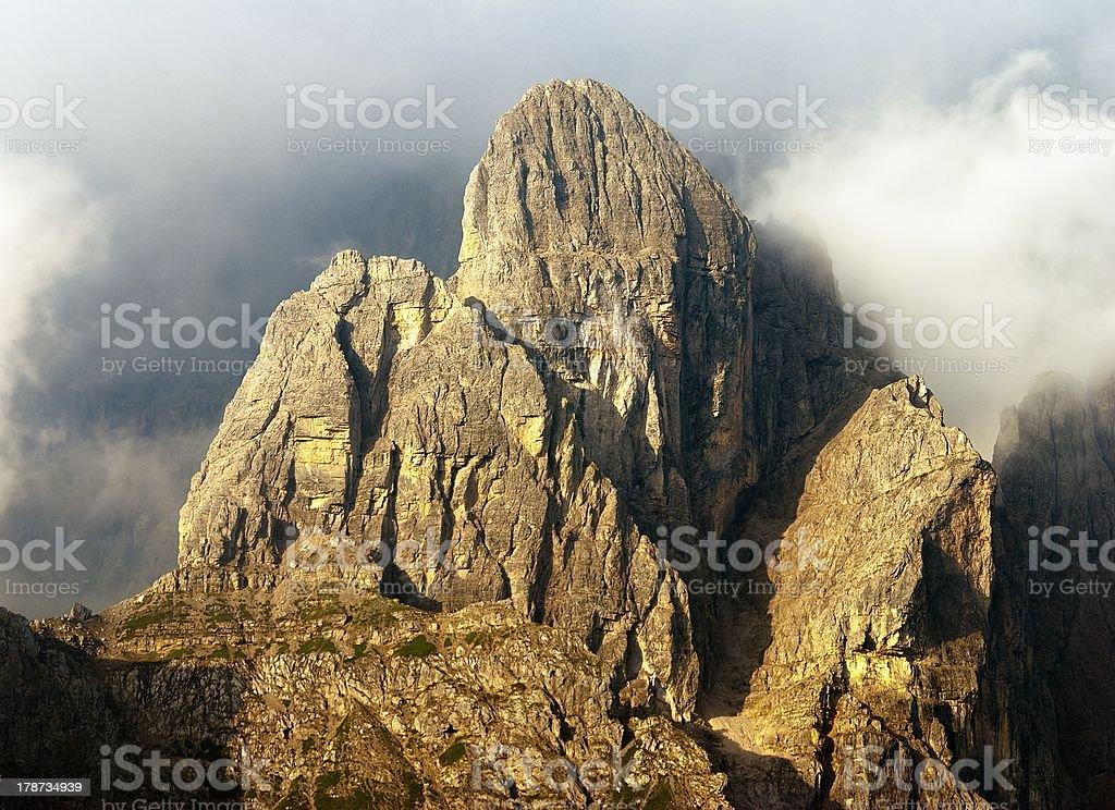 Dolomiti di Sesto or Sextener Dolomite royalty-free stock photo