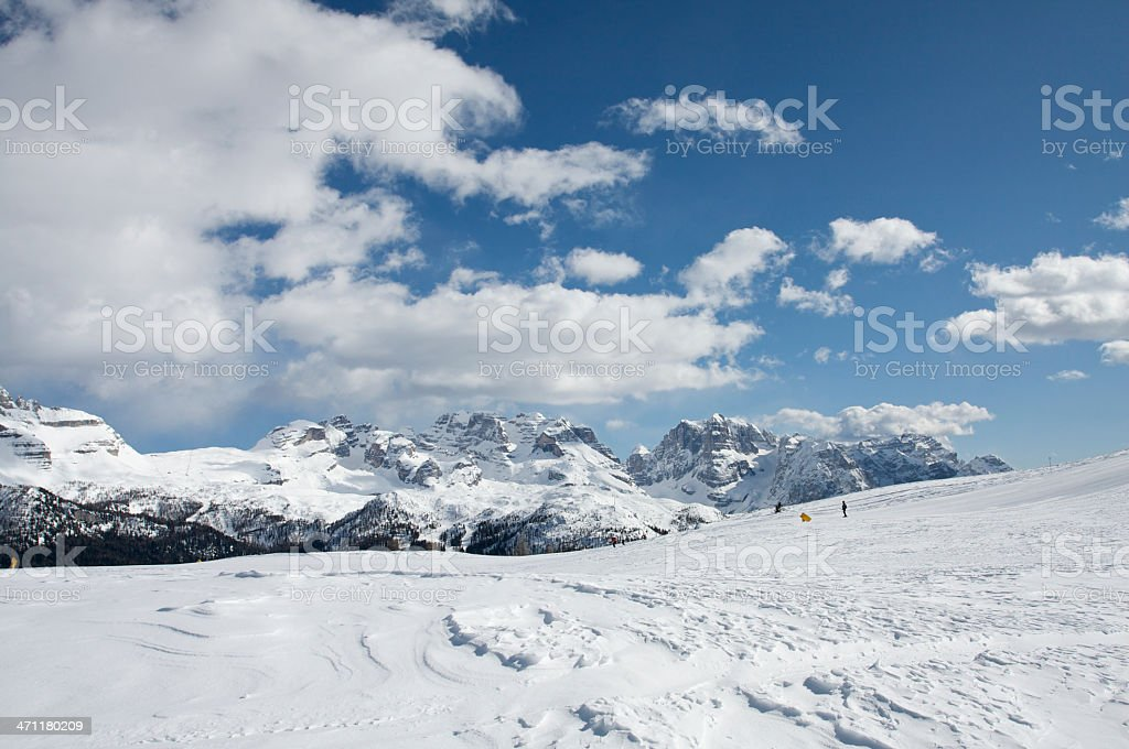 Dolomiti mountains in the winter stock photo