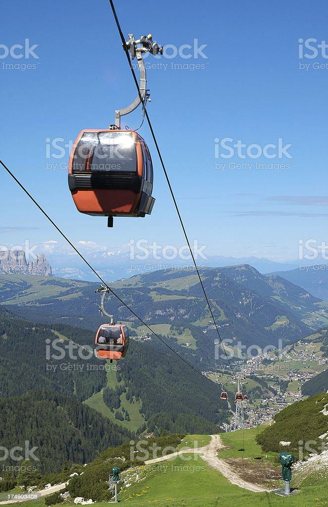Dolomiti Skilift royalty-free stock photo