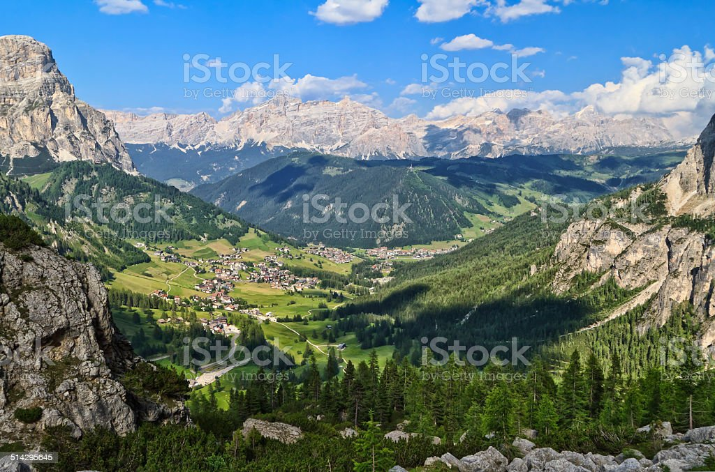 Dolomiti - Val Badia overview stock photo
