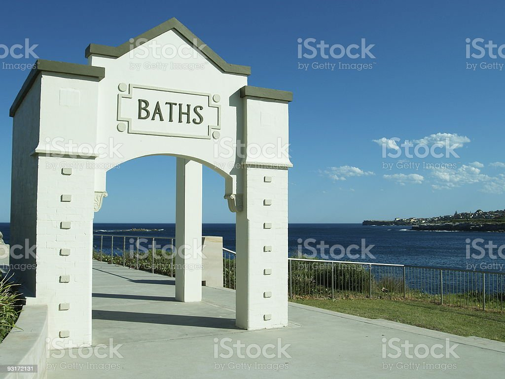 Dolphin Point Coogee stock photo