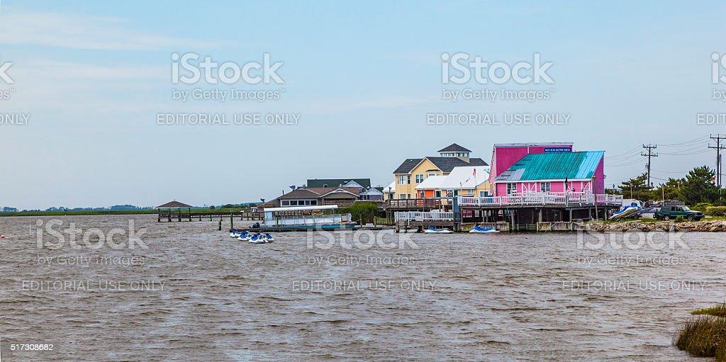 dolphin watch station at Nags Head, USA stock photo