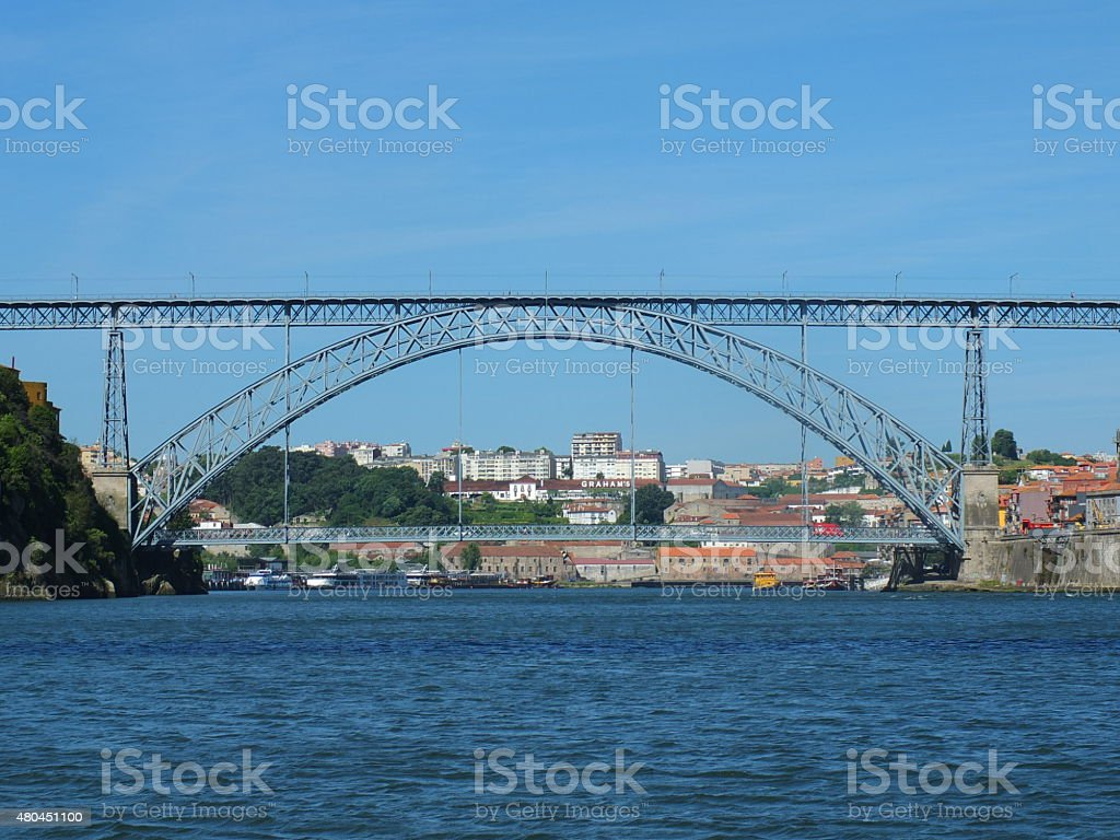 Dom Luis I Bridge From The Boat stock photo