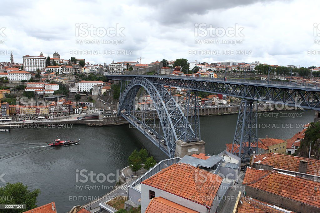 Dom Luis I bridge in Porto, Portugal royalty-free stock photo