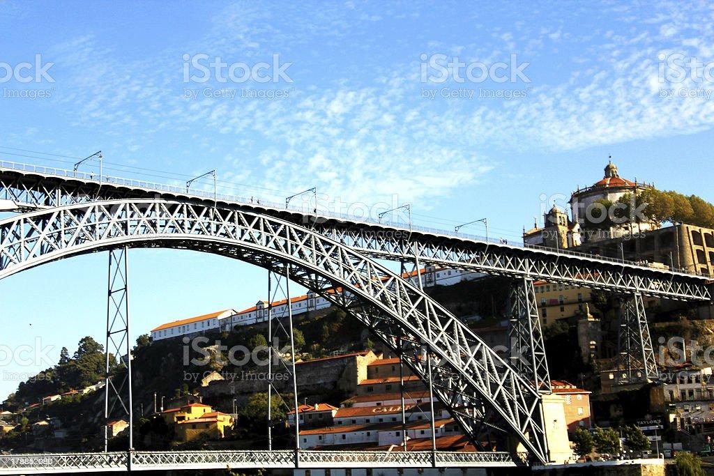 Dom Lu?s Bridge, Porto, Portugal royalty-free stock photo