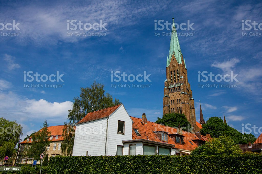 Dom of Schleswig in Schleswig-Holstein, Germany stock photo