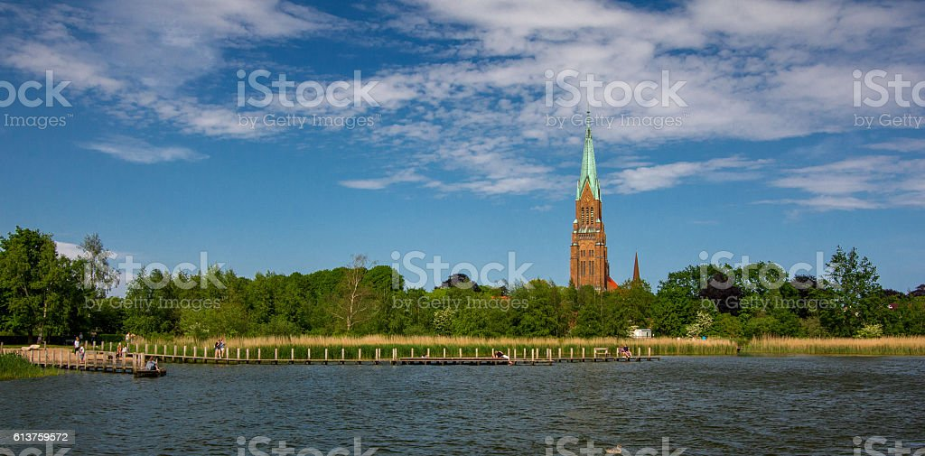 Dom of Schleswig in Schleswig-Holstein stock photo