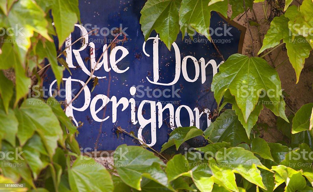 Dom Perignon Street stock photo
