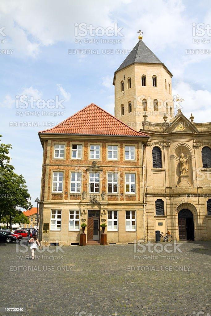 Dom square in Paderborn stock photo