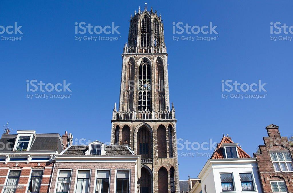 Dom Tower of Utrecht, Holland stock photo
