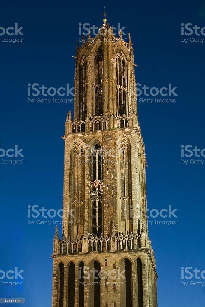 Dom tower (Utrecht, the Netherlands) stock photo