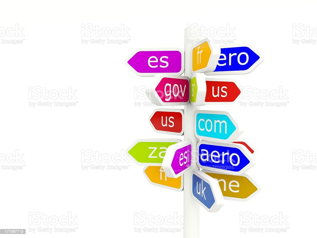 Domain name signs royalty-free stock photo