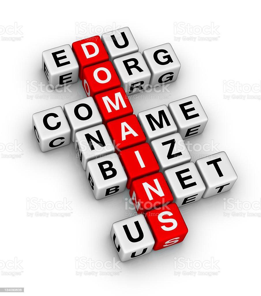 domain names royalty-free stock photo