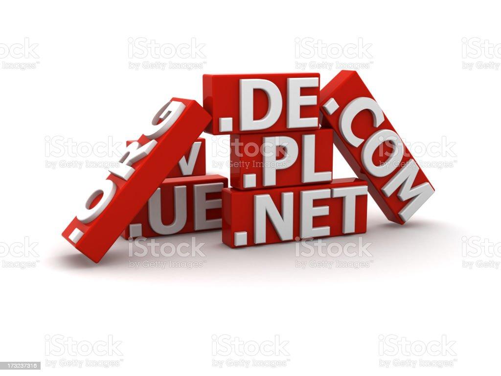 Domains royalty-free stock photo