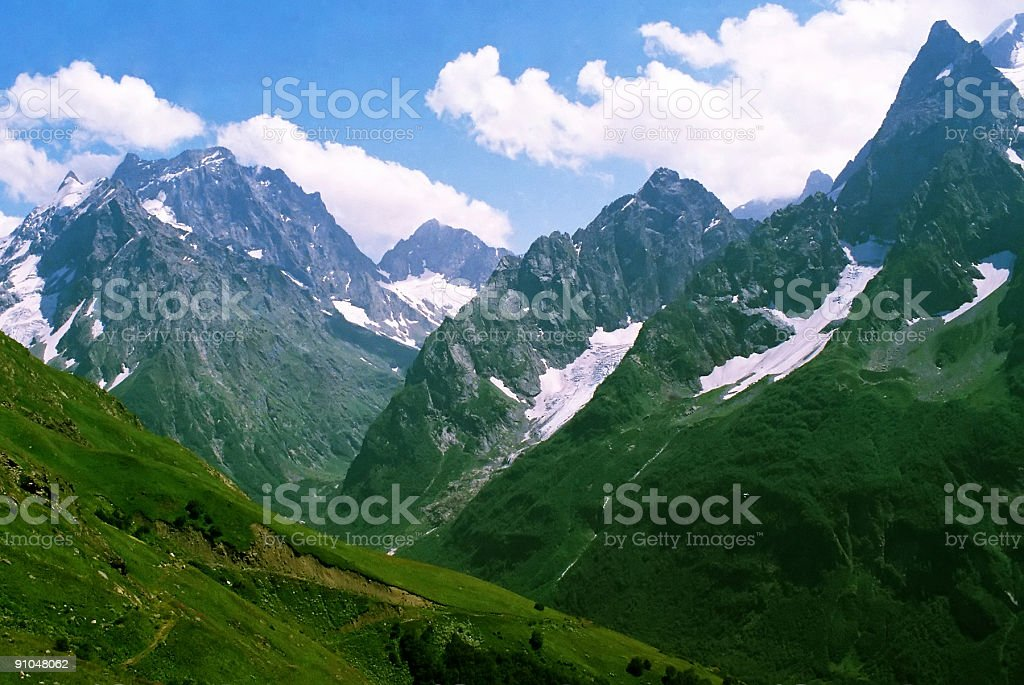 Dombai.Summer day. royalty-free stock photo