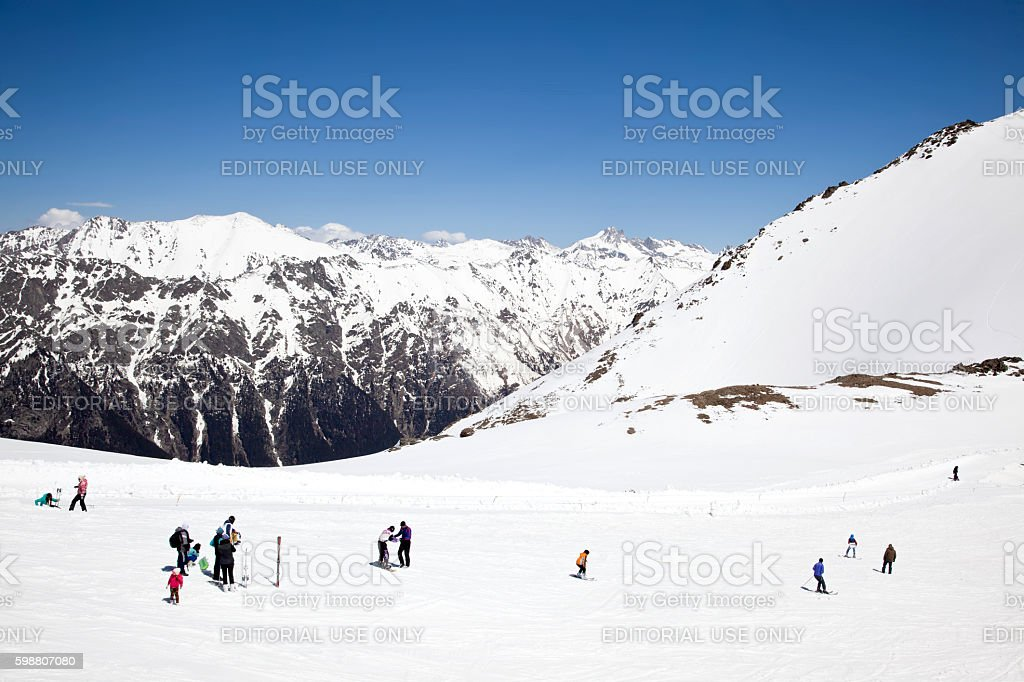 Dombay. Mountain slope stock photo