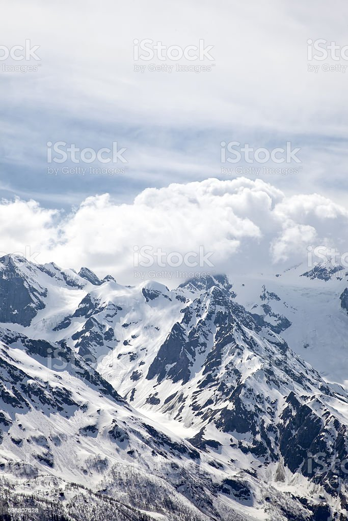 Dombay. Mountain territory stock photo