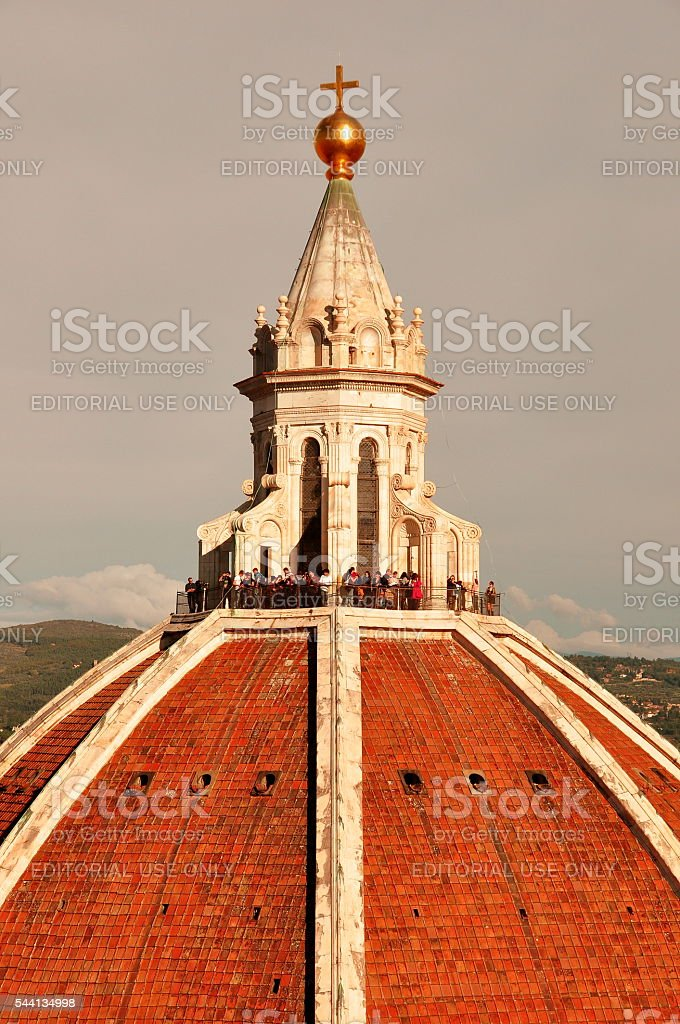 Dome and Lantern Florence Italy stock photo